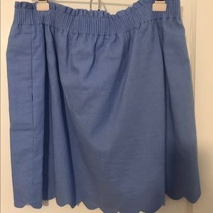 J crew blue scalloped skirt size 14